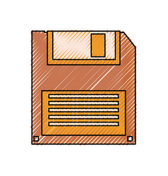 Old computer diskette vector
