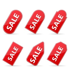 Red Price Tags for Sale vector image vector image