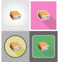 School education flat icons 12 vector