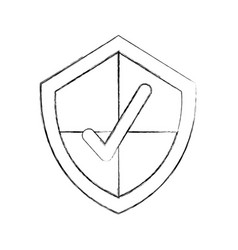 Security shield with check icon vector