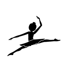 silhouette with dancer pose small spears vector image vector image