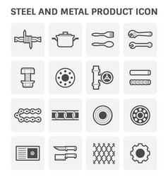 steel metal icon vector image