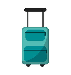 suitcase equipment travel icon vector image
