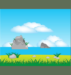 type on sea with coast vector image vector image