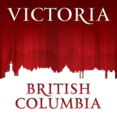 Victoria British Columbia Canada city skyline silh vector image vector image