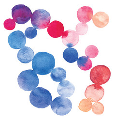 watercolor dots vector image vector image