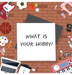 what is your hobby interest sport art vector image vector image