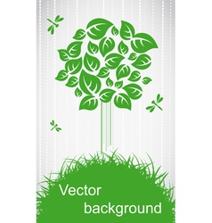 Ecological tree vector image