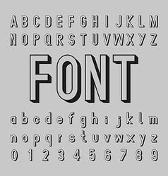 3d alphabet and shadow font design vector