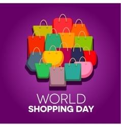 World shopping day vector