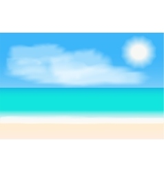 Tropical beach panorama background vector