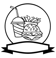 Cartoon burger meal vector