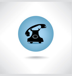 Old phone icon retro phone symbol handset sign vector