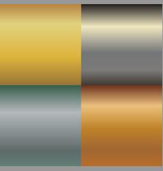 metal texture pattern set metallic gold and vector image