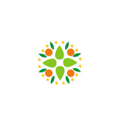 abstract fruit vegetable logo vector image