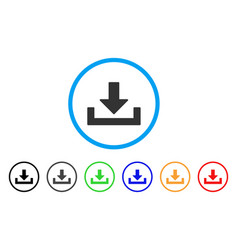 Download rounded icon vector