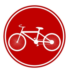 Bike button vector image