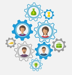 Idea of teamwork and success business people vector