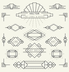 Art deco line vector