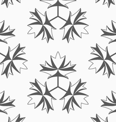Shades of gray maple leaves with three turn vector