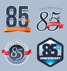 85 Years Anniversary Logo vector image