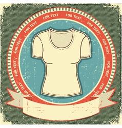 retro t-shirt label vector image
