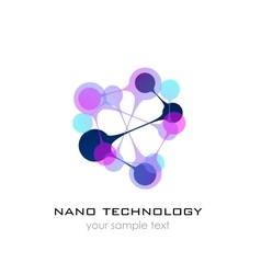 Nano logo - nanotechnology template design of vector