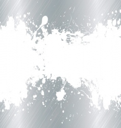 brushed metal ink splat vector image