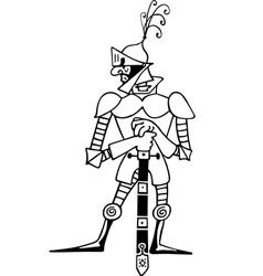 Comic knight vector image