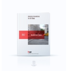 Abstract cover design template for annual report vector