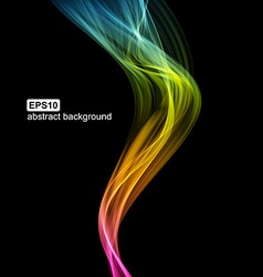 Abstract futuristic colorfull smoke background vector image vector image
