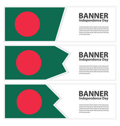 Bangladesh flag banners collection independence vector