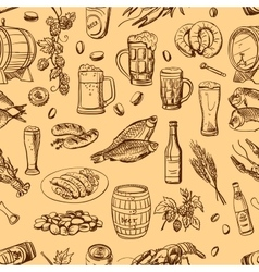 beer hand drawing pattern vector image