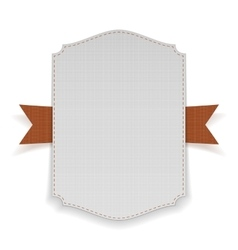 Big Banner with orange Ribbon vector image vector image