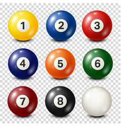 Billiardpool balls collection snooker vector