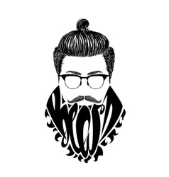 Black logo Beard vector image