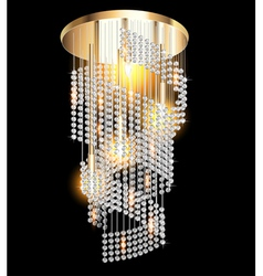 chandelier with crystal pendants vector image vector image
