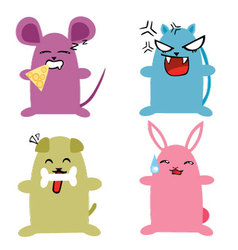 Chibi animals vector