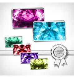 Diamond business cards vector