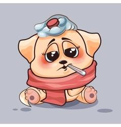 Dog is sick vector