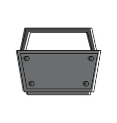 empty toolbox tool icon image vector image