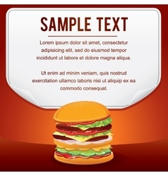 Fast Food Product Poster for Shop Design Sale Card vector image vector image