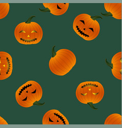 halloween background - pumpkin lantern vector image