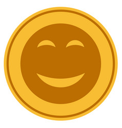 happy gold coin vector image