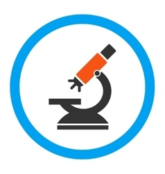 Labs microscope rounded icon vector