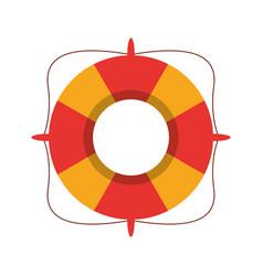 life buoy marine symbol vector image