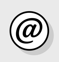 mail sign flat black icon in vector image