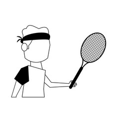 Male tennis player athlete sport avatar icon image vector