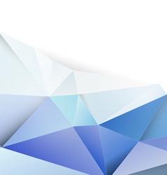 Modern blue polygon background vector image