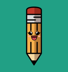 pencil comic character icon vector image